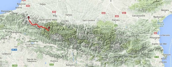 map itinerary part 2 gr10 pyrenees